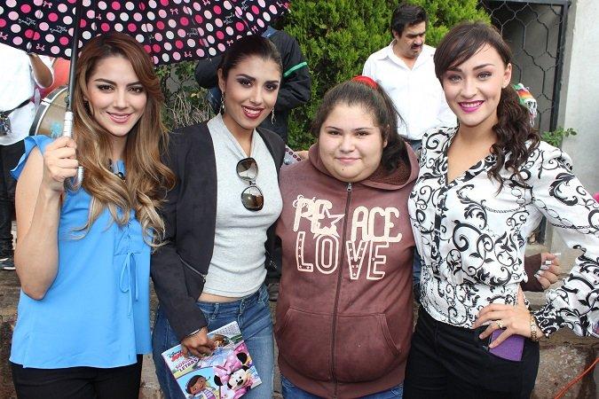 ¡Maleny, Angélica y Margarita, candidatas de FENAZA 2015 continúan el recorrido por la capital del Estado!