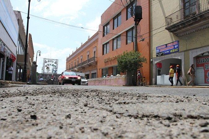 ¡En 2 semanas comenzarán obras de repavimentación de calles del Centro de Ags.!