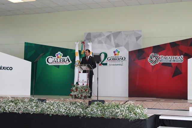¡El presidente municipal de Calera, Ivanhoé Escobar, rindió su segundo informe de gobierno!