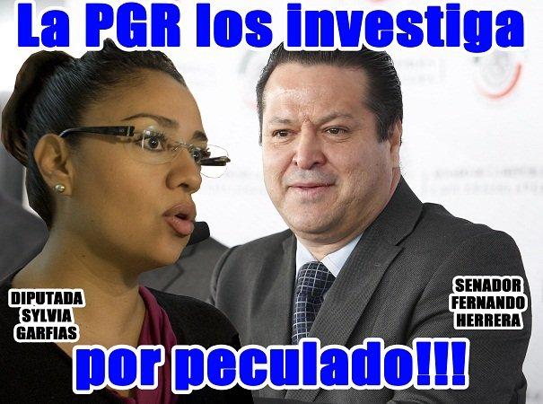 ¡La PGR investiga al senador Fernando Herrera y a Sylvia Garfias por peculado!