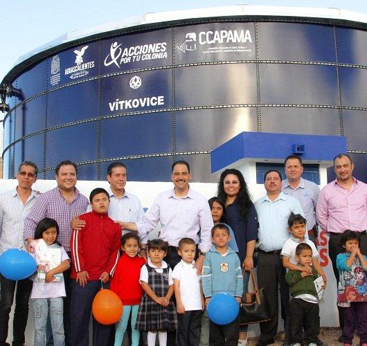 ¡Entrega el MunicipioAgs tanque de almacenaje de agua potable en la Col. Rodolfo Landeros!