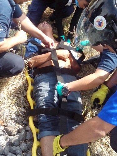 ¡Hombre se salva de morir arrollado por el tren en Aguascalientes!