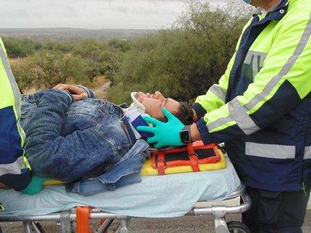 ¡3 lesionados, uno de Loreto, Zacatecas, tras choque frontal en Aguascalientes!