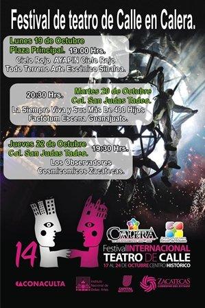 ¡Habrá Teatro de Calle en Calera, el Centro Cultural Invita!