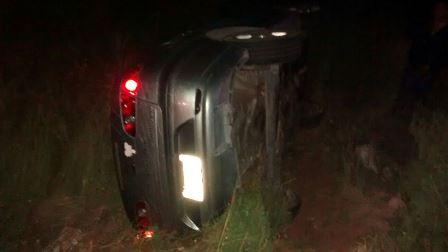 ¡Una estudiante de la UAA se salvó de morir tras volcar su auto en Aguascalientes!