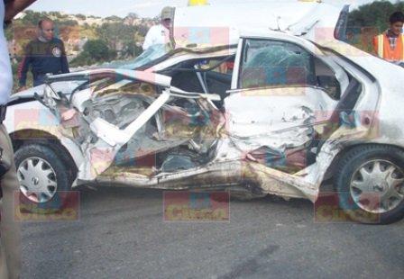 ¡3 muertos tras espantosa carambola entre 6 vehículos en San Juan de los Lagos!