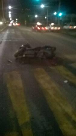 ¡Murió motociclista impactado por un automóvil en Aguascalientes!