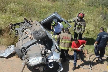 ¡Mujer se mató tras volcar su automóvil en Zacatecas!