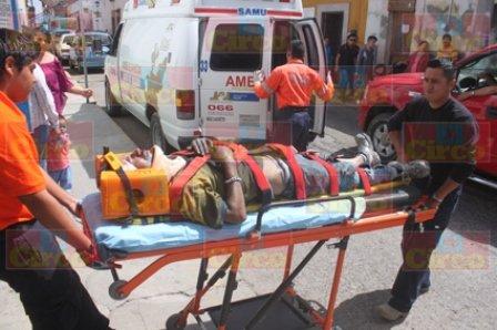 ¡Pepenador fue atropellado por una ambulancia en Lagos de Moreno!