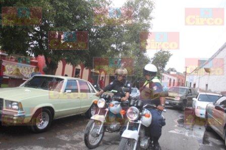 ¡Policías de Lagos de Moreno agredieron a un motociclista!