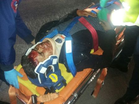 ¡Alcoholizado motociclista por poco se mata en Aguascalientes!