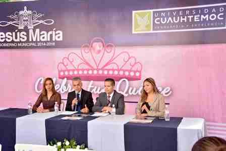 ¡Convocan municipio de Jesús María y Universidad Cuauhtémoc a quinceañeras de escasos recursos para tener su fiesta!