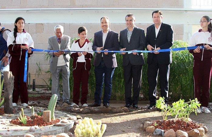 ¡Inaugura el MunicipioAgs un humedal en la Secundaria Técnica No. 5!