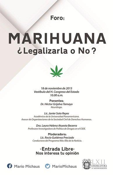 ¡Convoca el diputado panista Mario Michaus a Foro de Consulta sobre el consumo de la marihuana!