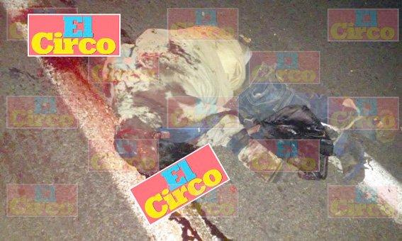 ¡Termina destrozado el cuerpo de un indigente arrollado en Fresnillo!