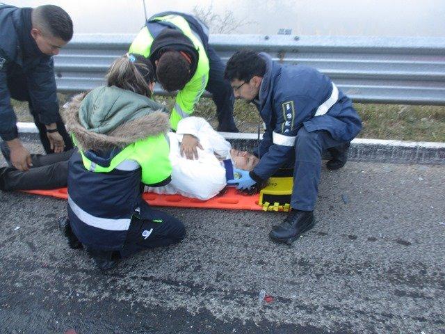¡10 lesionados tras impresionante carambola entre 21 vehículos en Aguascalientes!
