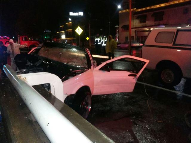 ¡Automovilista se mató tras estrellarse contra un puente en Aguascalientes!