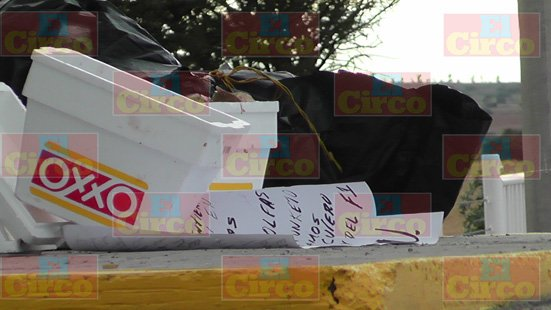 ¡Hallaron restos humanos en unas hieleras y unos narco-mensajes en Fresnillo!