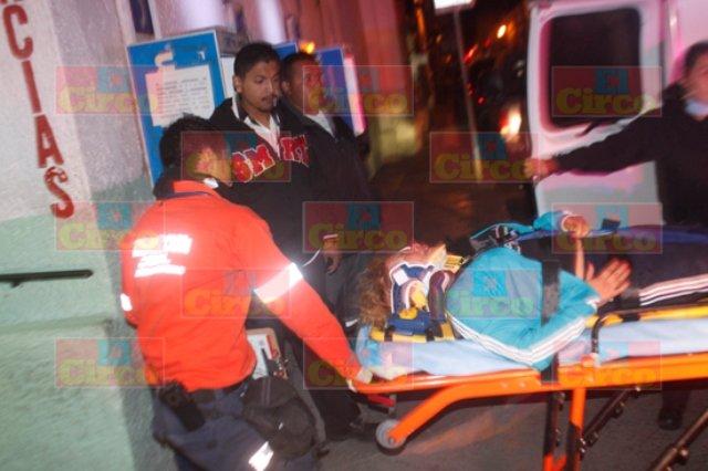 ¡Esposos potosinos casi se matan en un accidente en Lagos de Moreno!