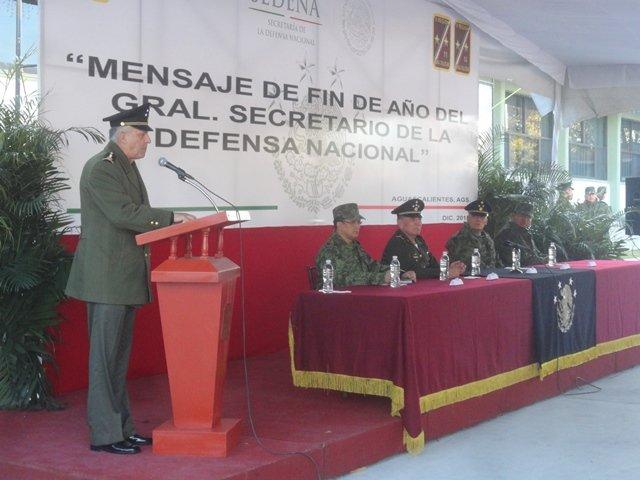 ¡El secretario de la Defensa Nacional visitó la 14ava. Zona Militar en Aguascalientes!