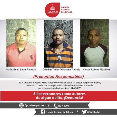 ¡Capturaron en Guadalajara a 4 sicarios de un grupo delictivo que cometieron varias ejecuciones!