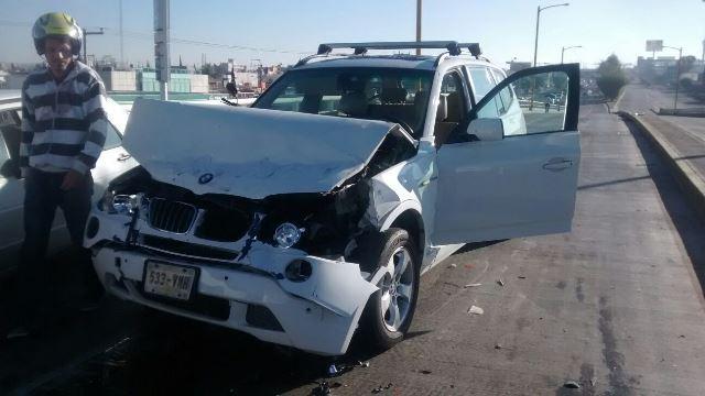 ¡Carambola entre 7 vehículos en Aguascalientes: no hubo lesionados!