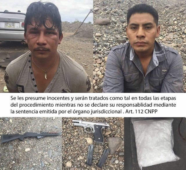 ¡Policía Federal repele agresión en Huetamo, Michoacán y detiene dos sujetos en posesión de crystal y armas!