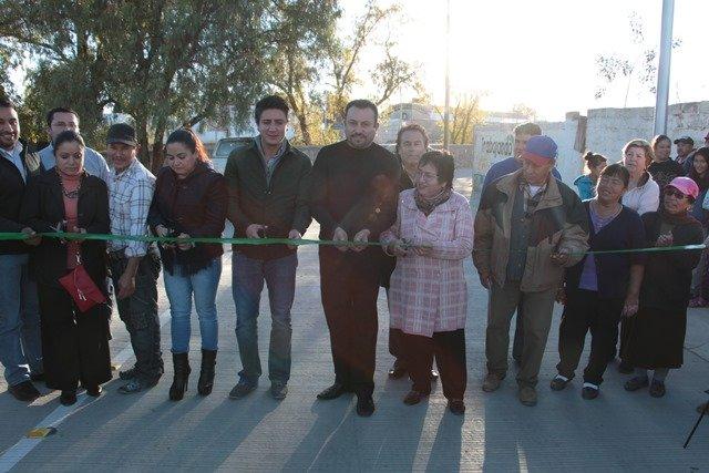 ¡Inauguran 5 vialidades integrales en el Arroyo Matamoros de Calera!