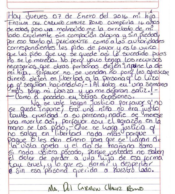 ¡Clama justicia la mamá de la quinceañera asesinada en Lagos de Moreno!