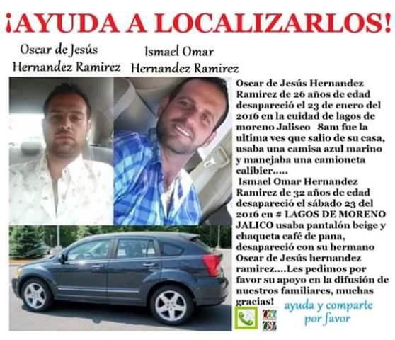 ¡Misteriosa desaparición de 2 hermanos en Lagos de Moreno!