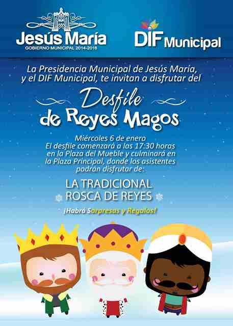 ¡Realizarán Desfile de Día de Reyes en Jesús María!