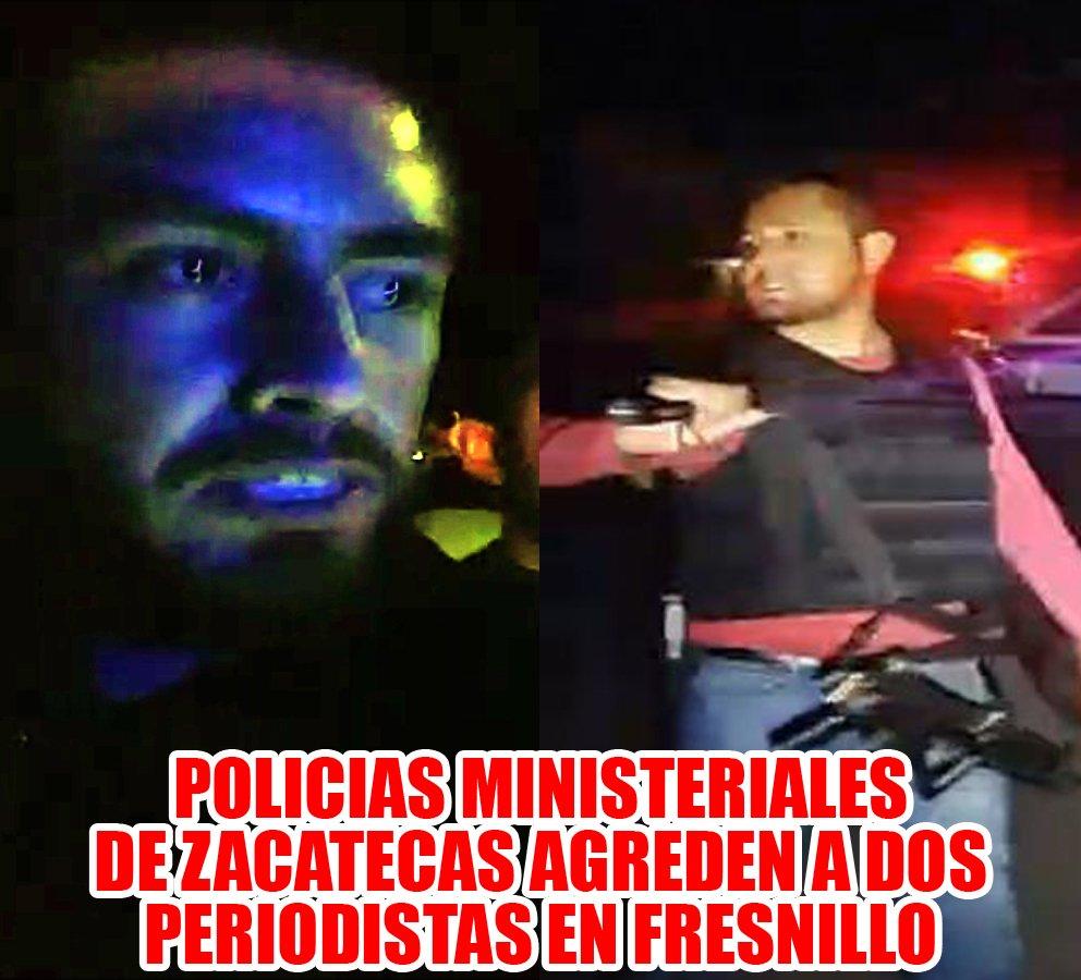 ¡Policías Ministeriales de Zacatecas agreden a dos periodistas en Fresnillo!