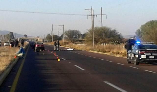 ¡Indigente murió destrozado por varios vehículos en Zacatecas!