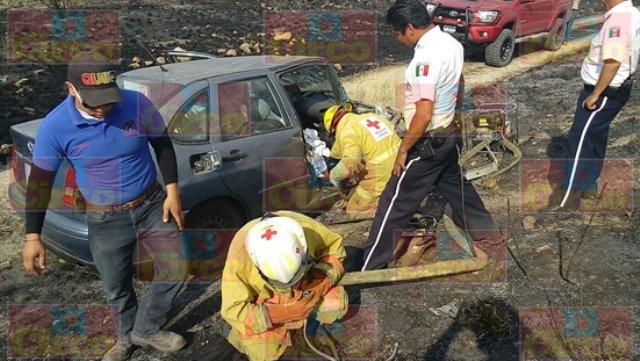 ¡Doble accidente en Lagos de Moreno dejó saldo de 2 lesionados originarios de Guanajuato!