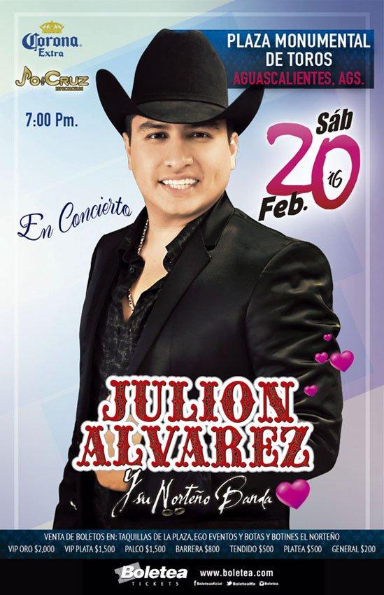 ¡JULION ALVAREZ en Concierto en la Monumental Plaza de Toros de Aguascalientes!