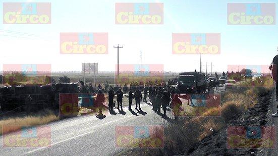 ¡Fatal accidente de militares en Fresnillo dejó 2 muertos y 33 lesionados!