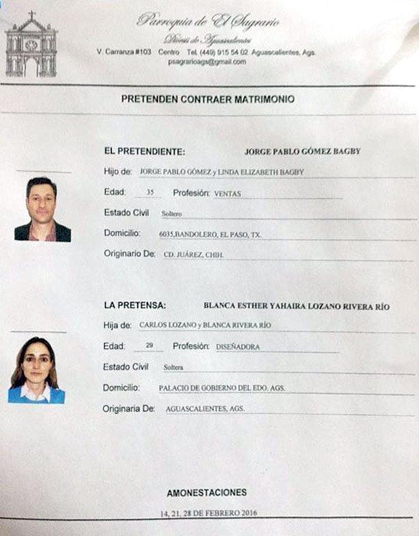 ¡La hija de Carlos Lozano le miente a la iglesia católica y a Aguascalientes!
