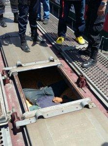 Encuentran el cuerpo de una persona en un vagón cargado de maíz_011