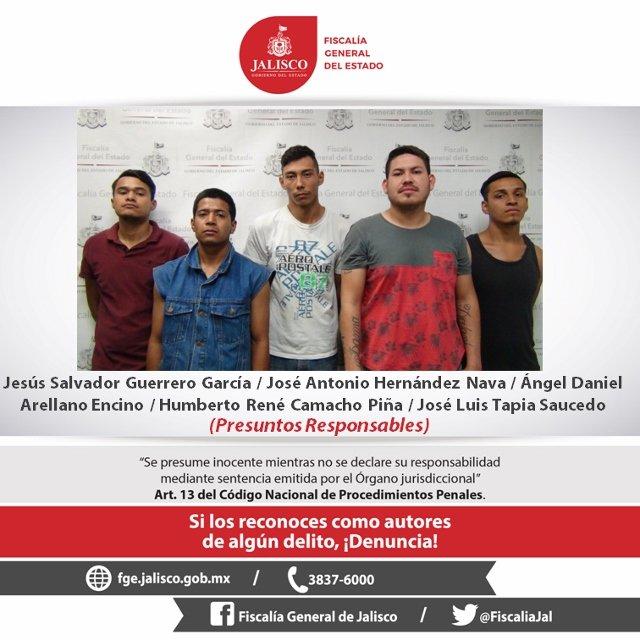 ¡Elementos de la Fiscalía General desarticulan banda dedicada al robo a cuentahabientes en Guadalajara!