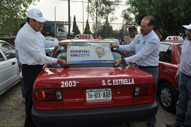 ¡Concesiones de taxi no serán más factor de presión política: Martín Orozco!