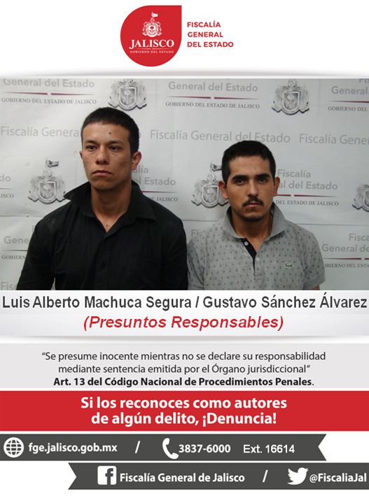 ¡Dos sujetos van a la cárcel por delitos contra la salud y posesión de armas en Guadalajara!