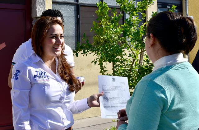 ¡La candidata a la alcaldía Tere Jiménez presentó su declaración 3de3!