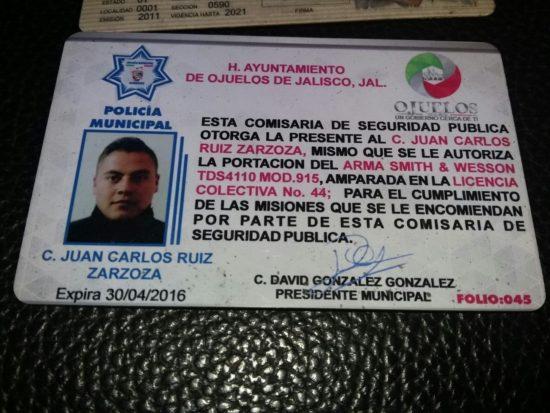 ¡Detienen dentro del área ferial a escolta de la esposa del Presidente municipal de Ojuelos!