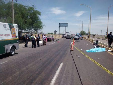 ¡Dos muertos en brutal volcadura registrada en Aguascalientes!