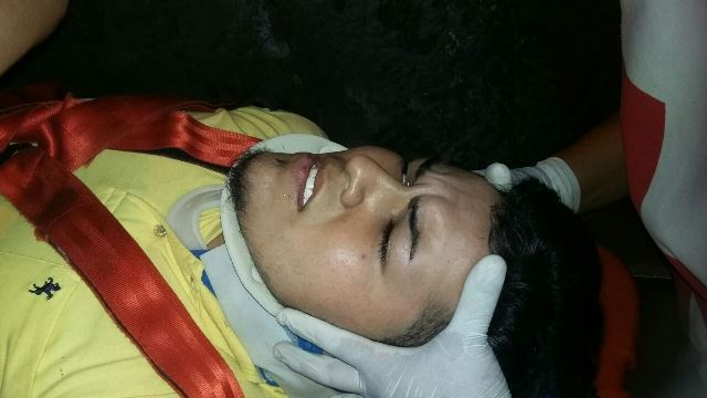 ¡2 alcoholizados jóvenes casi se matan tras fuerte accidente en Aguascalientes!