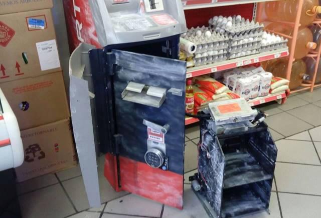 ¡Mini-comando vació un cajero automático en Aguascalientes!