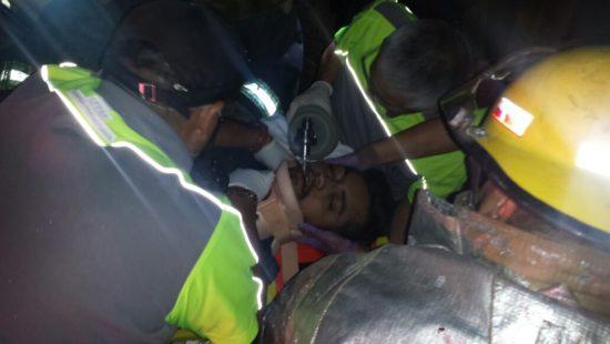 Saldo de tres lesionados dejó una volcadura en San Francisco de los Romo