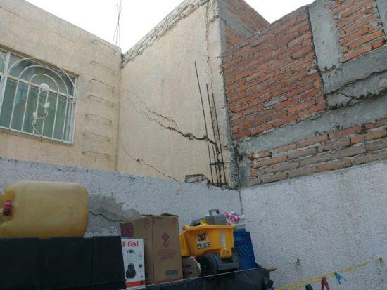 Provoca falla geológica daños en seis casas en Aguascalientes
