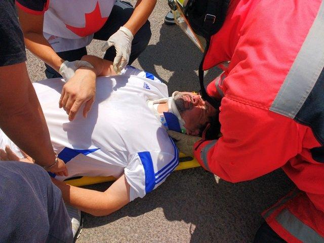¡5 heridos tras fuerte choque entre 2 camionetas en Aguascalientes!