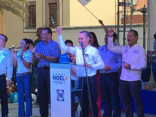 """¡Martín Orozco, Noel Mata y Lupita de Lira cierran campaña con """"Marcha de la Victoria"""" en Jesús María!"""
